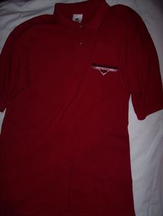 Harley Davidson Cafe Las Vegas Golf Shirt Red/Maroon XL All Cotton Polo USA Made #HarleyDavidsonCafe