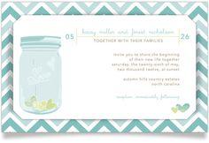 romantic mason jar layered wedding invite. SO CUTE.