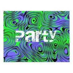 Teen Boys Birthday Party Invitations, Green Invites