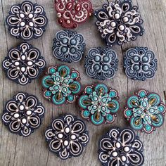 Unique Handmade Soutache Jewelry by MagicalSoutache Soutache Pendant, Soutache Earrings, Beaded Brooch, Beaded Jewelry, Handmade Jewelry, Soutache Tutorial, Bag Pattern Free, Button Crafts, Beads And Wire