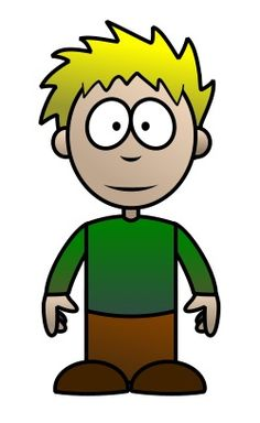 This cartoon kid is quite charming with its blonde hair and cute face.