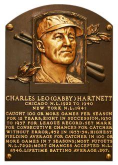 Hartnett, Gabby | Baseball Hall of Fame | Catcher