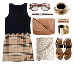 """RACHEL"" by catarinamorais ❤ liked on Polyvore featuring Burberry, Nanda Home, CO, J.Crew, Calypso St. Barth, Chie Mihara and Michael Kors"