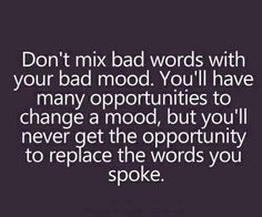 bad words-bad mood