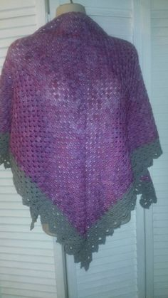 Check out this item in my Etsy shop https://www.etsy.com/listing/247436814/pink-and-grey-triangular-shawl