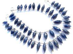 Natural Blue Sapphire Faceted Dew Drops Beads Quality A #bluesapphire #bluesapphirebeads #bluesapphirebead #bluesapphiredrops #dewdropsbeads #beadswholesaler #semipreciousstone #gemstonebeads #gemrare #beadwork #beadstore #bead