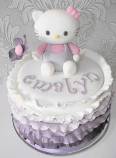 hello kitty cake...gonna have to do this for my daughters b'day...since this one has her name on it !