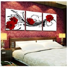 This domain may be for sale! Home Decor Furniture, Home Decor Bedroom, Living Room Decor, Easy Flower Painting, Love Painting, Diy Canvas, Canvas Wall Art, Altered Canvas, Acrylic Painting Techniques