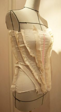 Draping on the stand - bodice development; fashion design; moulage; pattern making techniques