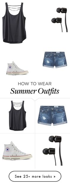 """My summer outfit"" by oliviahunter18 on Polyvore featuring Kavu, AG Adriano Goldschmied, Converse and Vans"