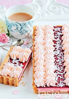 Pay tribute to an Aussie classic by transforming the iconic Arnotts Iced VoVo into a delectable tart. (Recipe by Katrina Woodman; Photography by Jeremy Simons) My life is now complete