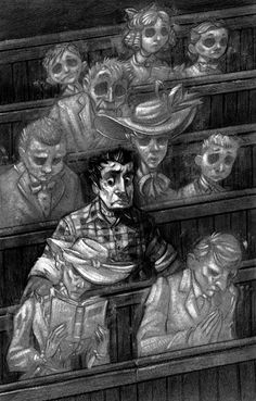 Dark illustration for Scary Stories To Tell In The Dark by Brett Helquist