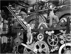 Charlie Chaplin à l'usine