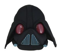 "Angry Birds Star Wars Soft Toy.  He's round, plush, black and looks like Darth Vader.  What a handsome fella. Approx 5"" in diameter he is soft enough to throw at your most loved Star Wars or Angry Birds (or both) fan. Other characters to collect.  You can choose your favourite or collect them all!"