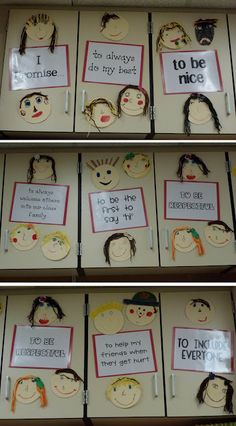This is an adorable idea from a former coworker. Classroom Promise - A great way to start the new school year. Check out more ideas and displays for your classroom. Classroom Behavior, Classroom Rules, Classroom Displays, Kindergarten Classroom, Future Classroom, School Classroom, Classroom Organization, Classroom Management, Behavior Management