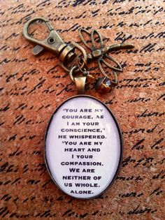 Outlander Quote Keychain