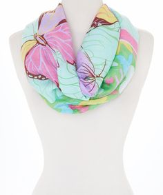This Rapti Mint Butterfly Infinity Scarf by Rapti is perfect! #zulilyfinds