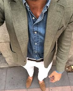 Amy liked this look on men. Suit Fashion, Mens Fashion, Fashion Outfits, Fashion News, Smart Casual, Men Casual, Blazer Outfits Men, Casual Blazer, Herren Outfit