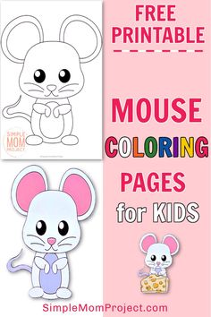 Looking to add a cute woodland animal to your kids forest friends - well here's a simple and free printable mouse coloring page. Whether as a fun homeschooling idea to learn the letter M or as a toddlers art project for preschool or kindergarten, this Mouse coloring page is easy to paint or color with your favorite coloring pencils.  Click here