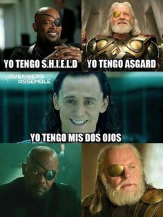 While there have been plenty of unforgettable sibling relationships in movies and television, few have been as compelling and fun as Thor and Loki in the string of Thor and Avengers movies over the last seven years.Read This Top 22 Loki Memes Marvel Funny Marvel Memes, Avengers Memes, Funny Jokes, Hilarious, Funny Comics, Marvel Avengers, Funny Spanish Memes, Spanish Humor, New Memes