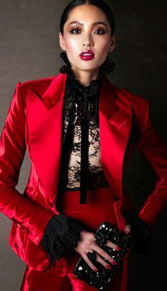 Velvet women's tuxedo from Tom Ford Women's A/W 2011 collection