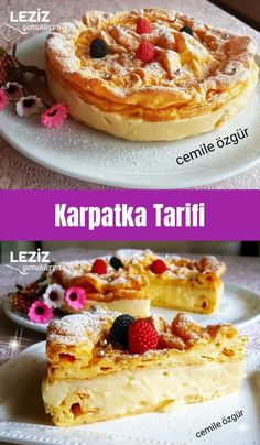 Karpatka Recipe - My Delicious Food - Cheesecake Recipes Frozen Pierogies, German Bread, Fermented Cabbage, Fried Oysters, Cranberry Chutney, Good Food, Yummy Food, How To Cook Potatoes, Coconut Macaroons