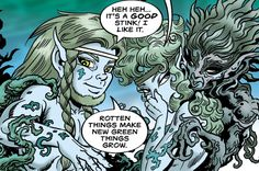 Redlance and Nighfall meet the Rootless Ones in #Elfquest. www.elfquest.com