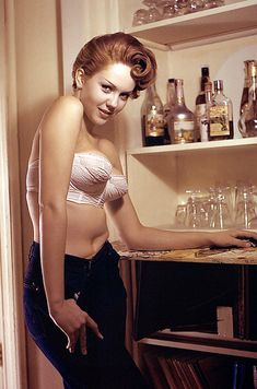 Colleen Farington, Playboy Magazine's Miss October, 1957. (She is Diane Lane's mom)
