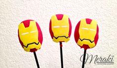 Pedido especial de Cake Pops en forma de Iron Man. https://www.facebook.com/meraki.reposteria