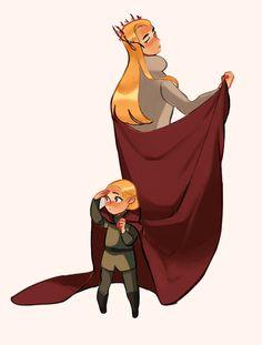 Thrandy and little Legolas