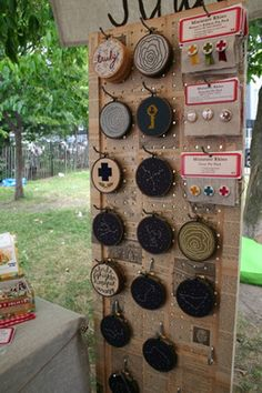 Book page covered peg board. oh, hello friend: you are loved.: collections / show displays: