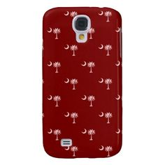 South Carolina Palmetto & Crescent Moon - Red Samsung Galaxy S4 Cases