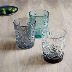 Decorated Hobstar Glassware #westelm