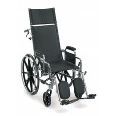 The Breezy® EC 4000 High Strength Lightweight Recliner Wheelchair features durability in a lightweight design and a reclining back for those who