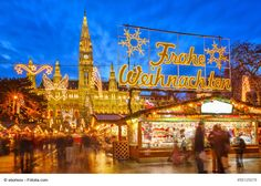 Christmas market in Vienna. Traditional christmas market in Vienna, Austria , Vienna Christmas, Christmas Markets Europe, Magical Christmas, Christmas Scenery, Geneva Christmas Market, Christmas Lights, Holiday Market, Christmas Ad, Outdoor Christmas