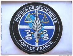 INSIGNE TISSUS PATCH GENDARMERIE NATIONALE LA SECTION DE RECHERCHE DE FORT DE FRANCE MARTINIQUE 972 (VELCRO) - Police & Gendarmerie