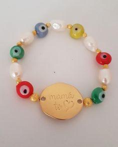 Evil Eyes Mom Bracelets #bijoux #evil #turkisheye #mombracelets #takkaibykarina #pearls #etsyshop #bracelets #mothersday #momgift #summer #bijouxfantaisie #bijouxcreateur #pulseras