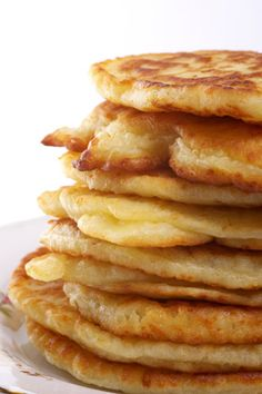 Microwave Pancakes: mix regular pancake batter. Put 3/4 cup onto a buttered dinner plate and microwave for 45 seconds