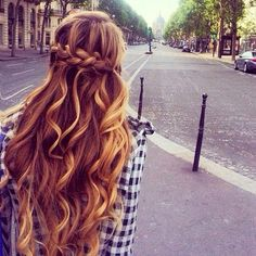 hair color + braid