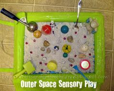 outer space sensory play