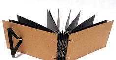 mini album para fotografias encadernação artesanal zigzag (triângulo) costura...