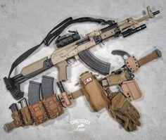 Glock Guns, Weapons Guns, Guns And Ammo, Tactical Rifles, Firearms, Salient Arms, Ak 12, Camo Guns, Airsoft Gear