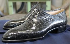 Crocodile whole cuts by Riccardo Bestetti  http://www.theshoesnobblog.com/