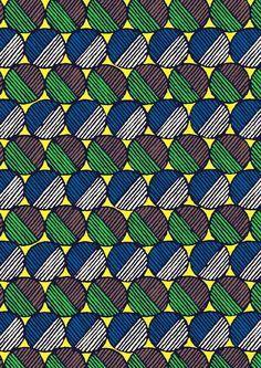 pattern by Minakani #minakani #circles #pastille #balls #wax #ink #geometric #pattern