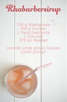 Recipe for rhubarb syrup Rezept für Rhabarbersirup Recipe for rhubarb syrup Melon Recipes, Rhubarb Recipes, Sweet Recipes, Vegan Smoothies, Smoothie Drinks, Smoothie Recipes, Summer Drinks, Cocktail Drinks, Cocktail Recipes