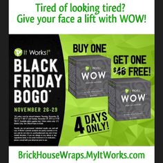 #Christmas gifts or #Pampering? Why not both? #BOGO #NoWrinkles #NoBags #wraps #health #wellness #beauty #ItWorks BrickHouseWraps.MyItWorks .com