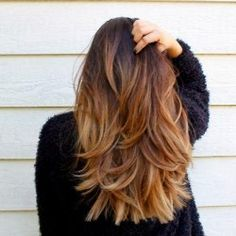 healthy chopped ombre layers