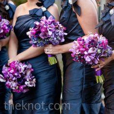 Midnight-blue Bridesmaid Dresses