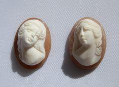 Two High Relief Cameos. Italian. Vintage by DanPickedMinerals, $200.00
