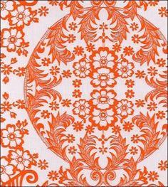 Toile Orange Oilcloth Fabric